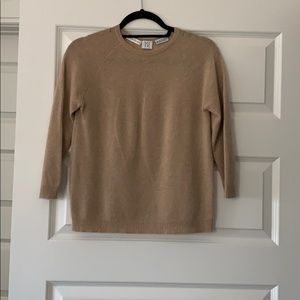 Bergdorf Goodman 100% Cashmere Tan Sweater